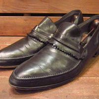 ビンテージ50's●KINGSWAYキルトローファー黒●210310s11-m-lf-28cm 1950sメンズ革靴