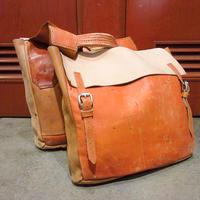 ビンテージ●ハンドメイドレザーサドルバッグ●210610s9-bag-ot モーターサイクルバイクバイカーカバンサイドバッグ