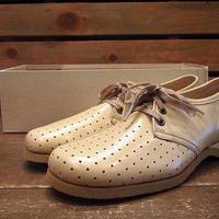 ビンテージ70's80's●DEAD STOCK Musebeck レディースレザーシューズ Size 7A/3A●210518n9-w-dshs-235cm 1970s1980sデッドストック靴