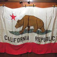 ビンテージ-60's●CALIFORNIA REPUBLICフラッグsize 121cm×180cm●210612s8-signカリフォルニア共和国カリフォルニアリバプリック旗