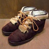 ビンテージ70's●YODELERSスウェードエスキモーブーツ Size 7 1/2●201017n2-m-bt-25cm ウィメンズ革靴エスニック古着