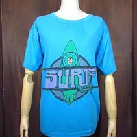 ビンテージ80's●SURF CityサーフプリントTシャツ水色●201030n8-m-tsh-ot半袖メンズトップスサーフィン古着USAライトブルー