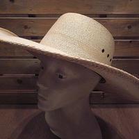 ビンテージ●Double Sメキシカンストローハット●200825n8-m-ht-str メキシコパームリーフ椰子の葉麦わら帽子