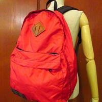 ビンテージ80's●Eddie Bauerナイロンバックパック赤●200710s7-bag-bp エディーバウアーリュックデイパック