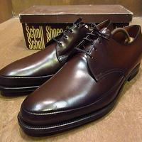 ビンテージ70's●DEADSTOCK Scholl Uチップシューズ茶11 1/2 D●201105n7-m-dshs-295cm 1970sデッドストックドクターショール革靴