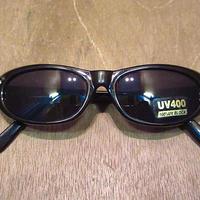 ビンテージ80's90's●DEADSTOCKオーバルサングラス黒●200608n6-eygls 1980s1990sデッドストックキャッツアイレディースラインストーン