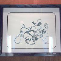 ディズニー●Jim BonserioハンドペイントアートB●200820n6-sign ドナルドダックスケッチ絵画壁掛けディズニーワールド