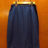 ビンテージ50's●ネップ織り台形スカート紺●210516f9-w-skt-W28レディースネイビーひざ丈USA
