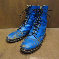 MADE IN ENGLAND Dr.Martens 10ホールブーツ青size28cm●210422f7-m-bt-28cmイギリス製イングランドドクターマーチン