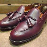 ビンテージ80's●GRENSONタッセルローファー赤茶9D●200709n3-m-lf-27cm 1980sグレンソン英国製ベンチメイド革靴メンズ
