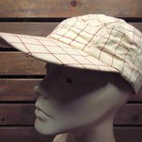 ビンテージ40's50's●チェック柄フィッシングキャップsize 7●200717n2-m-cp-bb帽子古着メンズUSA野球帽釣りアウトドア