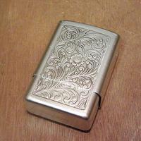 ビンテージ●彫金ボタニカル柄シガレットケース●201111n8-otclct タバコ入れハードケース雑貨喫煙具