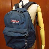 MADE IN U.S.A. JANSPORTボトムレザーナイロンバックパック紺●210319f8-bag-bpジャンスポーツリュックサックアウトドアかばんUSA製