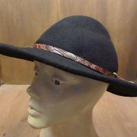 ビンテージ●BLACK CREEKフェルトハット黒M●210328n6-m-ht-flt フェドラハットソフト帽ウールハットメンズ