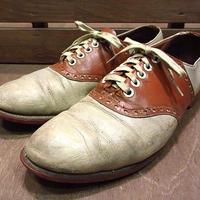 ビンテージ40's50's●ツートンサドルシューズ8 1/2B●200609n5-m-dshs-26cm 1940s1950sレザー革靴メンズ
