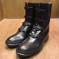 ビンテージ~60's●DEADSTOCKミリタリーラバーレインブーツ黒8●201206n6-m-bt-265cm 50s1950s1960sデッドストック長靴