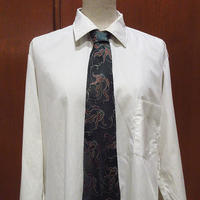ビンテージ30's40's●刺繍総柄ネクタイ深緑●210605f7-nctファッション小物雑貨