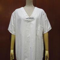 ビンテージ~60's●Hospitexコットン半袖ホスピタルシャツ白L●210526s3-m-sssh-ot 50s1950s1960s病院患者衣