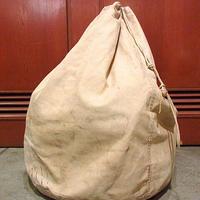 ビンテージ40's50's●耳付きコットンキャンバスバラックバッグ生成り●201211s7-bag-ot ダッフルバッグカバン雑貨