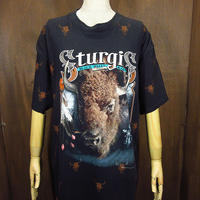 ビンテージ90's●3DエンブレムSTURGIS BLACK HILLS RALLY 1994両面プリントTシャツsize XL●210506n5-m-tsh-otハーレースタージス