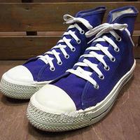 ビンテージ80's90's●DEADSTOCKレディースキャンバススニーカーHI紫8●200623n7-w-snk-235cm 1980s1990sデッドストック