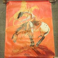 ビンテージ●インディアンアートポスター 約70.5cm×約55.5cm●200610s7-pst ネイティブアメリカン絵画USA民族雑貨