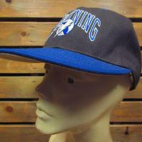 ビンテージ80's90's●DEADSTOCK LIGHTNING NHLスナップバックキャップ黒×青●210205n3-m-cp-bbタンパベイライトニングホッケー帽子