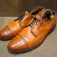 Allen Edmonds Sanford セミブローグシューズ茶 10 1/2D●210403n1-m-dshs-285cm 革靴レザードレスシューズアレンエドモンズ