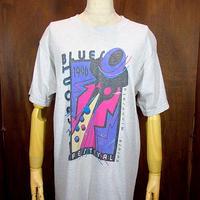 ビンテージ90's●Bayfront Blues FestivalプリントTシャツ Size M●200801n1-m-tsh-bn 半袖音楽ブルーストップス古着