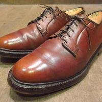 ビンテージ70's●FLORSHEIM IMPERIALプレーントゥシューズ茶10D●201001n3-m-dshs-28cm 1970sフローシャイムインペリアル革靴
