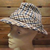ビンテージ70's●Dobbsツイードハット6 7/8●200803n2-m-ht-flt 1970sドブスウールフェドラ帽子メンズ