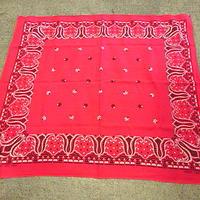 ビンテージ50's●トラマークFAST COLORコットンバンダナ赤●200619f12-bnd小物ハンカチ雑貨ファッション古着