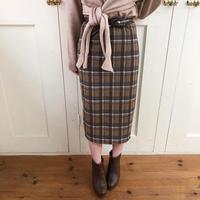 plaid retro tight skirt
