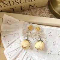 w ribbon white rose pierce