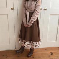 flower layered antique skirt