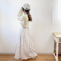 mirror spring skirt (silver)