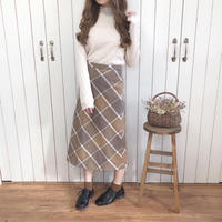 suede retro skirt