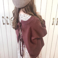 <OUTLET>back ribbon chocolate knit