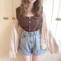 summer knit cardigan (beige)