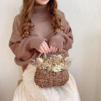 turtle neck volume knit (chocolate)