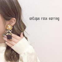 antique rose earring