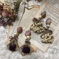 antique big bouquet earring