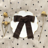pleats ribbon valletta (chocolate)