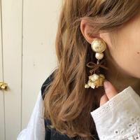 rose & gyp antique bouquet earring