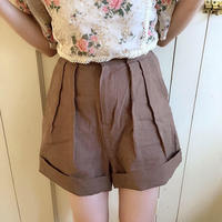 autumn linen short pants (moca)