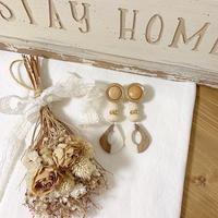 cafe au lait wood earring