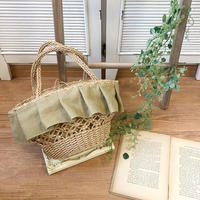 frill ship straw bag (french linen)