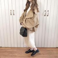 voluslee big silhouette short coat (olive beige)