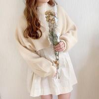 layered knit × blouse coordinate SET