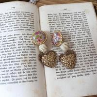 flower bee earring